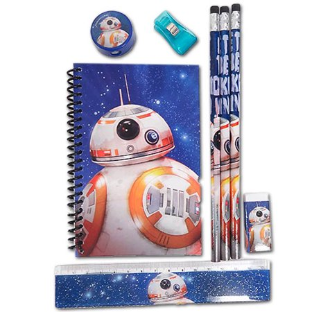 Disney Star Wars The Force Awakens BB-8 School Stationery Gift Set for Kids - Star Wars Kids Gifts