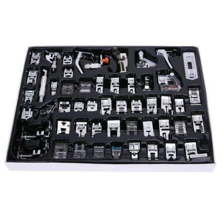 52 PCS Domestic Sewing Machine Foot Presser Feet Set for Brother Singer Janome (Brother Sewing Machine Foot Pedal)