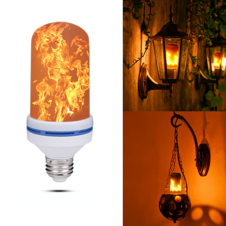 NK 1 PCS LED Flame Effect Light Bulb, E26 Standard Base, Atmosphere Decoration Fire Flickering Simulation 108pcs 2835 LED Beads, Antique Lantern Atmosphere,Hotel,Bar,Home Decor (Blue And Green Lightbulbs)