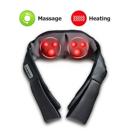 Shiatsu Back & Neck Massager Kneading Shoulder Massage Pillow W/ Heat Straps - image 10 of 10