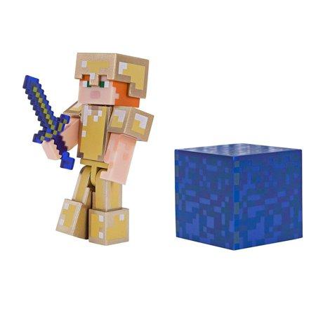 Alex In Golden Armor Minecraft Figure