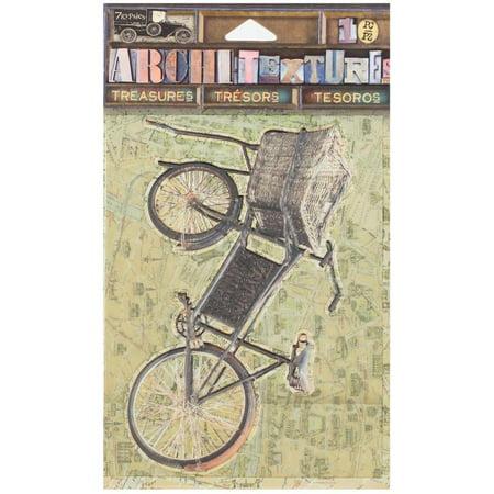 7 Gypsies Architextures Treasures Adhesive Embellishments-7g Logo Vintage Market Bicycle 4