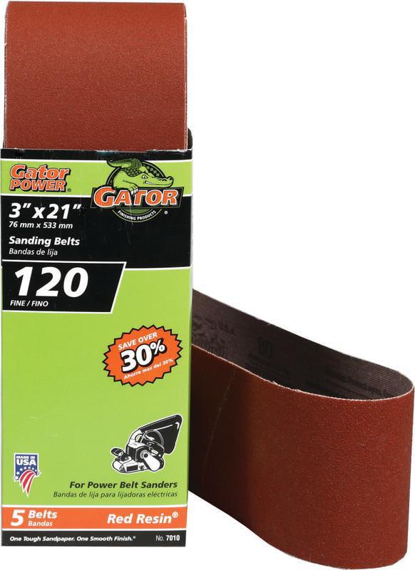 Gator 7010 Heavy Duty Resin Bond Power Sanding Belt, 21 in x 3 in, 120 Grit by Ali Industries