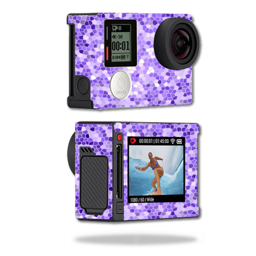 Mightyskins Protective Vinyl Skin Decal Cover for GoPro Hero4 Silver Edition Camera Digital Camcorder wrap sticker skins Stained Glass