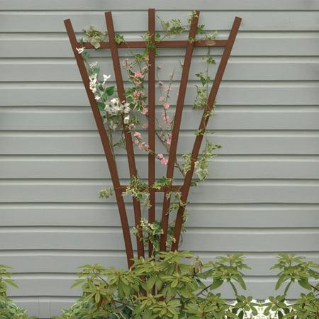 Wooden Trellis - Highwood Eco-Friendly Hartford Fan Trellis, Weathered Acorn
