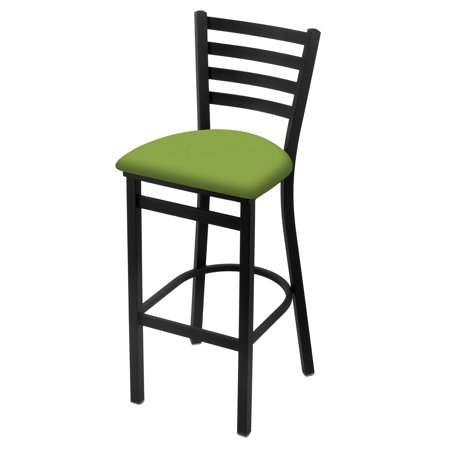 "400 25"" Stationary Counter Stool with Black Wrinkle Finish and Canter Kiwi Green Seat"