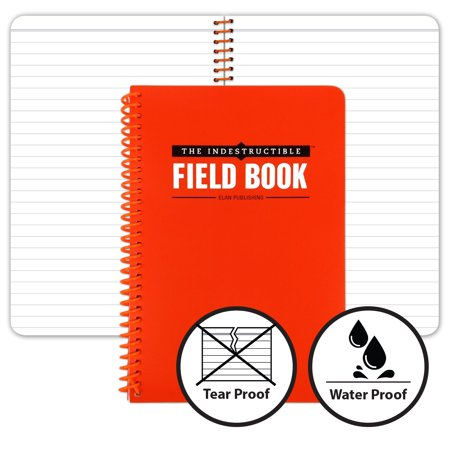 The Indestructible Waterproof, Tearproof, Weatherproof Spiral Bound Field Notebook - 4.875