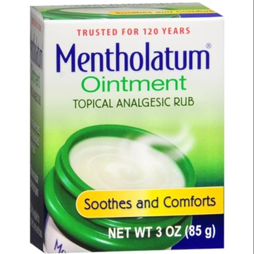 Mentholatum Ointment Topical Analgesic Jar With Aromatic Vapors - 3 Oz