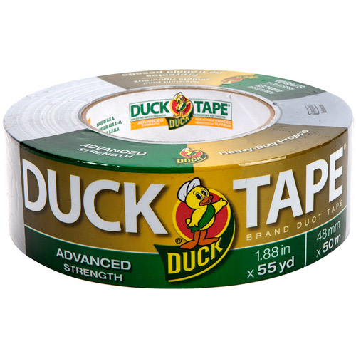 "Duck Brand Duct Tape, Advanced Strength, 1.88"" x 55 yds, Silver"