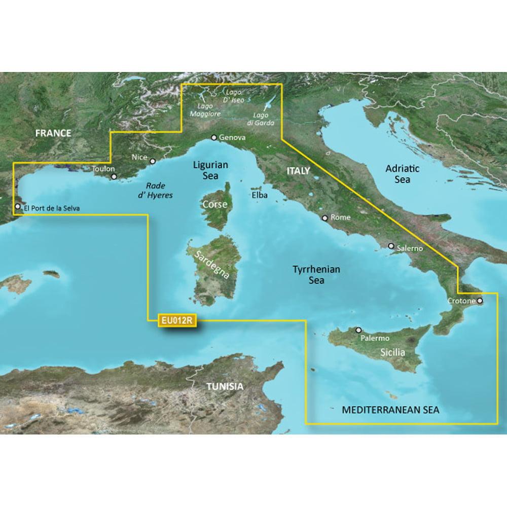 Garmin VEU012R ITALY WEST  COAST BLUECHART G2 VISION