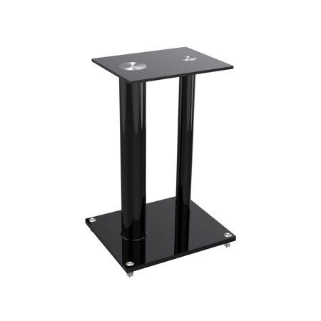 Glass Floor Speaker Stands (pair) Black (12281) by
