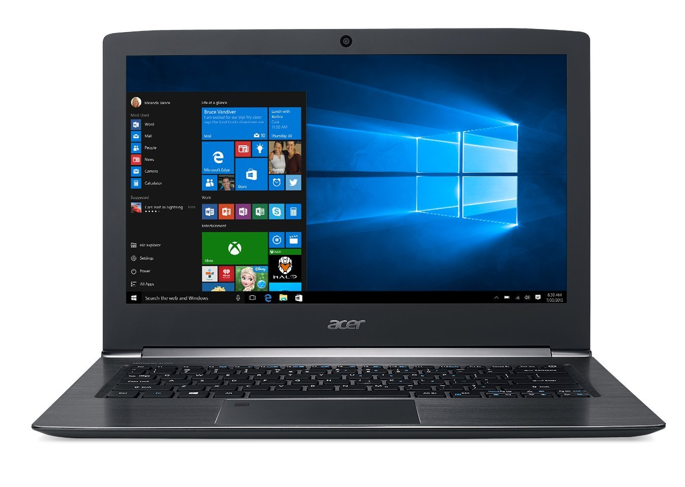"Manufacturer Refurbished Acer Aspire S5-371T-78TA Ultrabook 13.3"" Intel Core i7-7500U 2.7 GHz 8GB Ram 256GB SSD... by Acer"