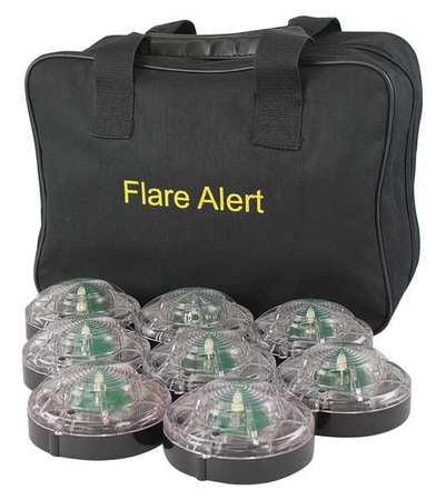 LED Road Flare Kit,1 Watt,white FLAREALERT B8WBP2ONLY