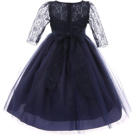 c2829ae1a3c Dreamer P - Big Girls  Dress Lace Top Rhinestones Tulle Holiday ...