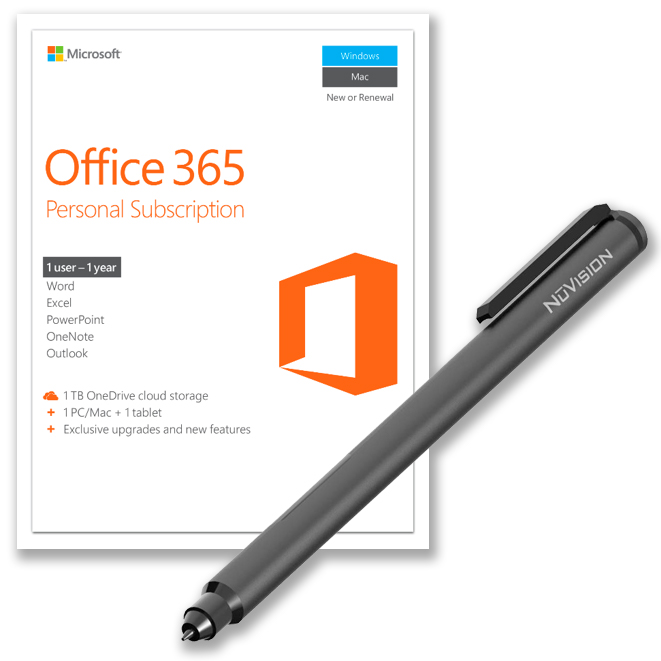 Office 365 with NuVision Inking Pen Value Bundle