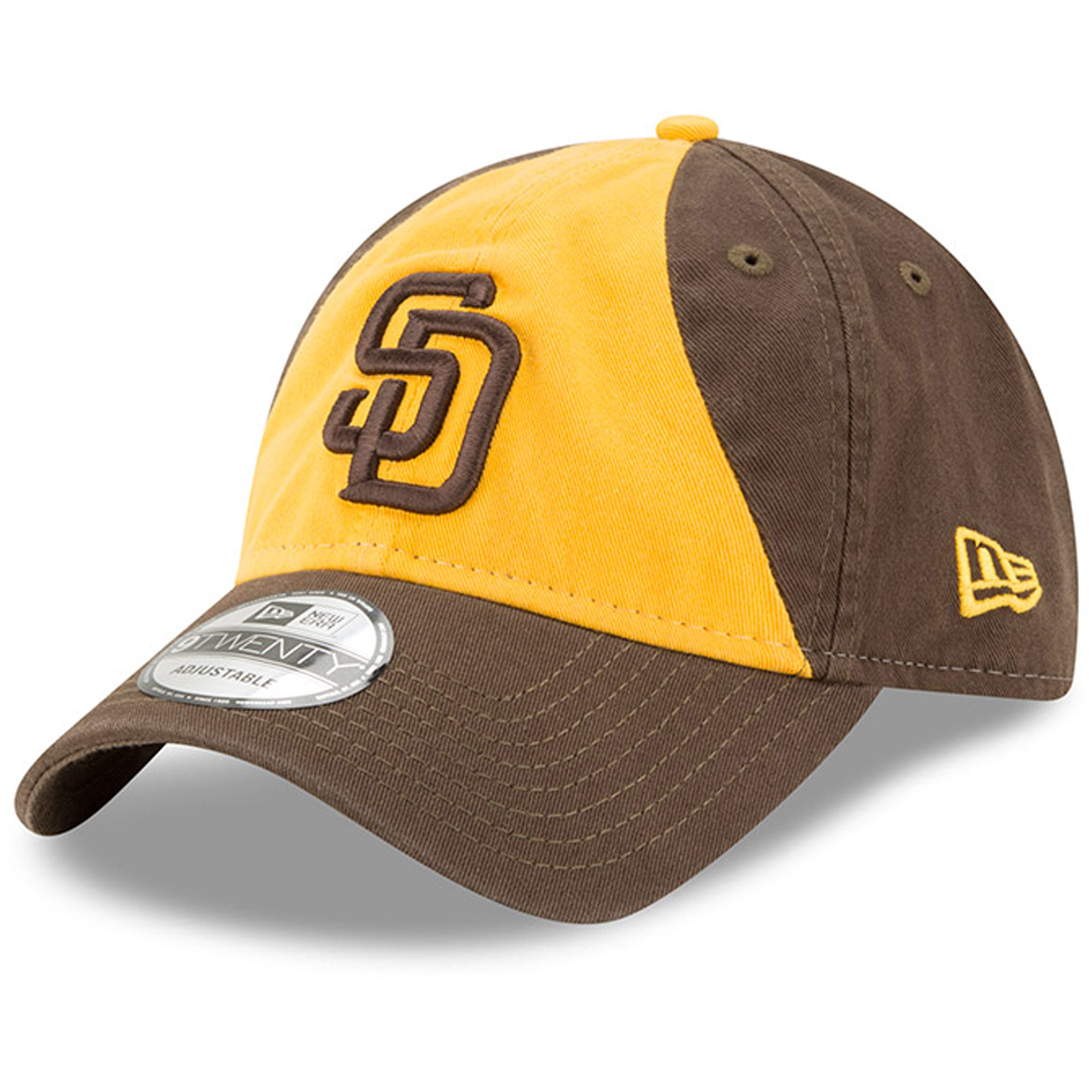 San Diego Padres New Era Alternate 2 Replica Core Classic 9TWENTY Adjustable Hat - Gold/Brown - OSFA