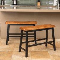 Yantarni Wood Kitchen Bench - Set of 2