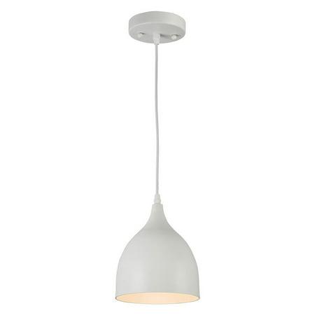 Three Light White Ceiling Pendant (CHLOE Lighting WALTER Industrial-style 1 Light Matt White Ceiling Pendant 7