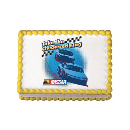 Nascar Checkered Flag Edible Cake Topper Decoration