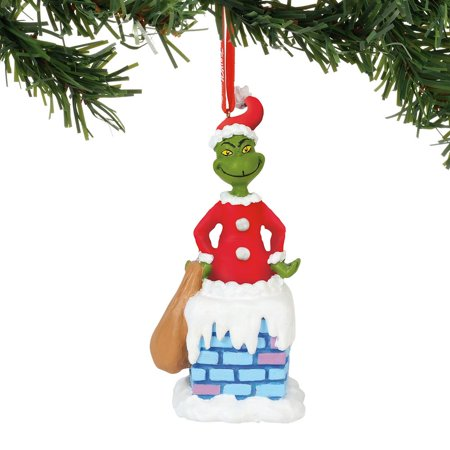 Department 56 Dr. Seuss 6000310 Into The Chimney Musical Ornament (Dr Seuss Christmas Decorations)