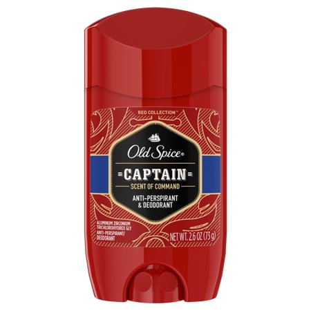 Mens Invisible Set - Old Spice Red Collection Captain Scent Invisible Solid Anti-Perspirant and Deodorant for Men 2.6 Oz.