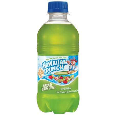 (24 Bottles) Hawaiian Punch Green Berry Rush, 10 Fl - Halloween Punch Alcoholic Green