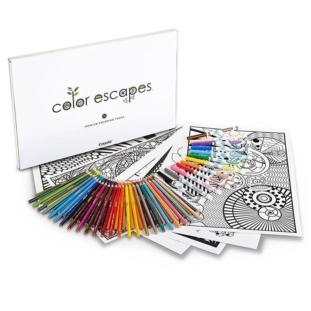 Crayola Color Escapes Coloring Pages, Pencil Kit, Geometric Edition