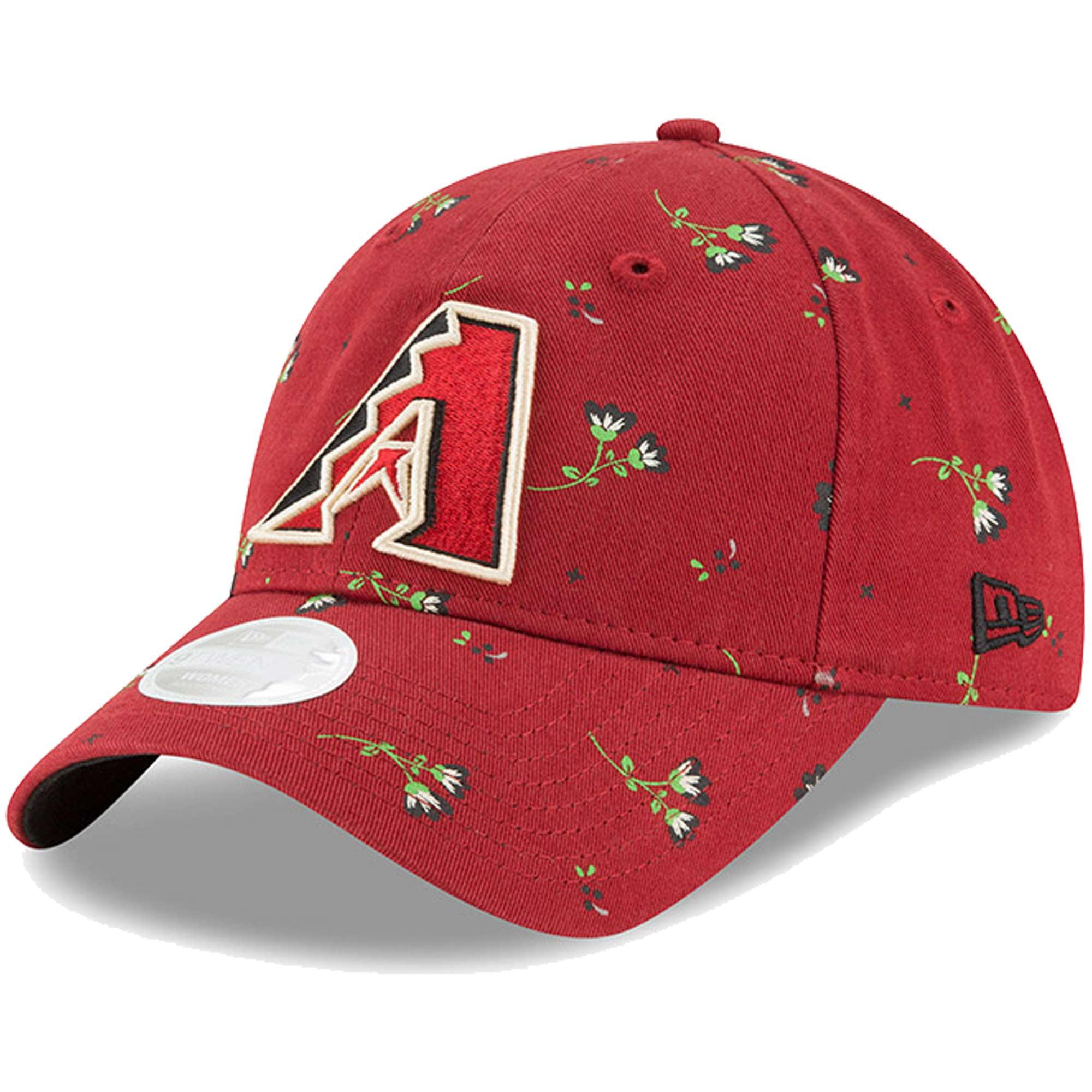 Arizona Diamondbacks New Era Women's Blossom 9TWENTY Adjustable Hat - Black - OSFA
