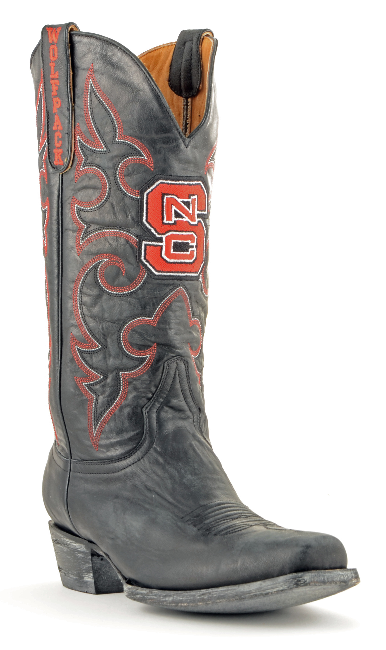 Gameday Boots Mens Black Leather N Carolina State Cowboy Boots (12) Ncs-M213-2 by GameDay Boots