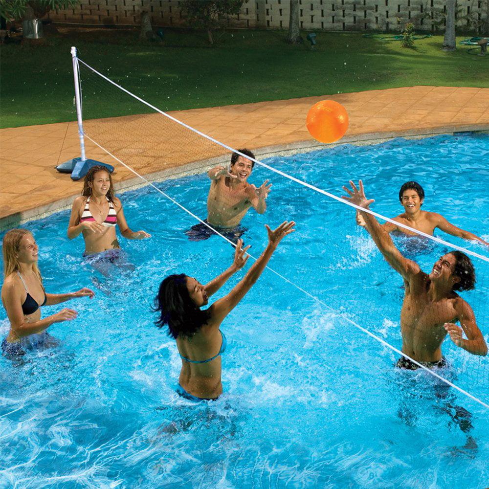 Poolmaster Across Pool Volleyball And Badminton Net Swimming Pool Game Combo Walmart Com Walmart Com