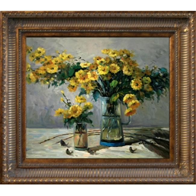 Artmasters Collection 70823-655D Garden Bouquet Framed Oil Painting