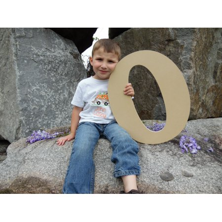 Wooden Letter (O) Unfinished 6'' Wood Craft Letter, Paintable - Unfinished Wood Craft Supplies