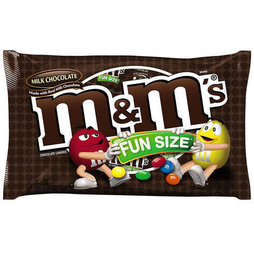 M&M'S Milk Chocolate Fun Size Candy Bag, 11 oz