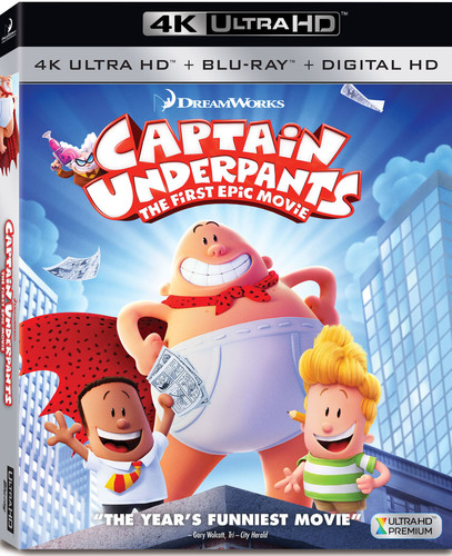 Captain Underpants: The First Epic Movie (4K Ultra HD + Blu-ray + Digital HD)
