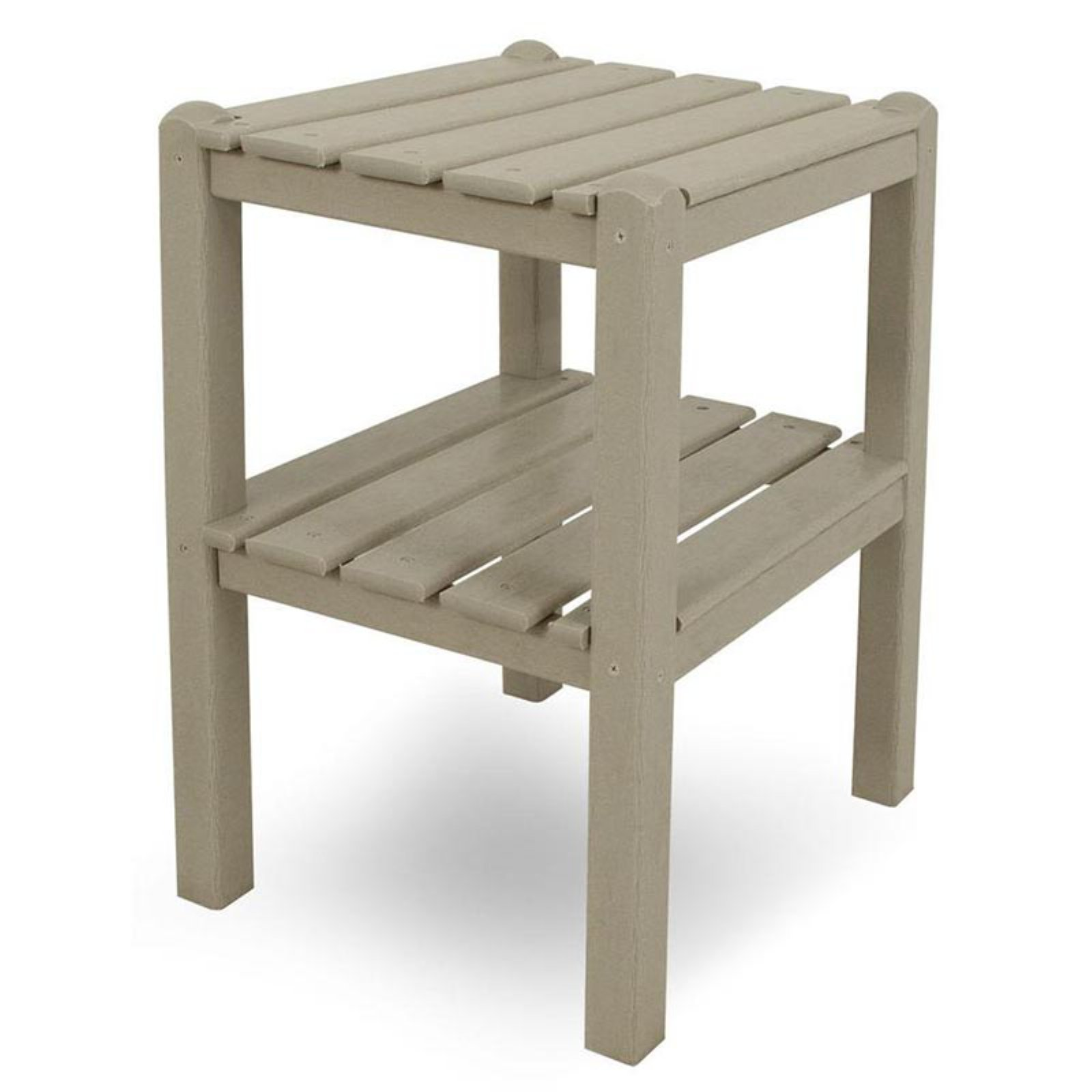 POLYWOOD® Traditional Recycled Plastic 2-Shelf Side Table