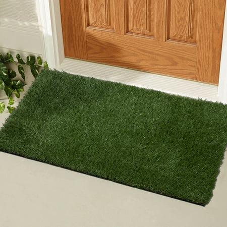 - Ottomanson Garden Collection Indoor/Outdoor Artificial Solid Grass Design Doormat Green Turf, 20