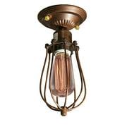 Lorna 1-light Antique 5-inch Edison Flush Mount