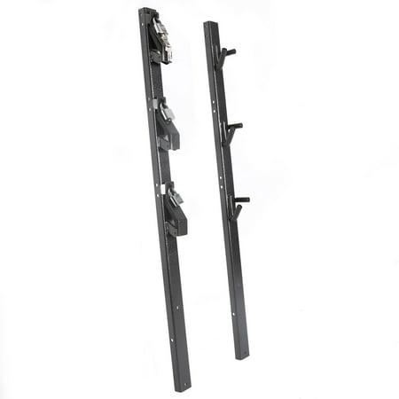 Lockable Cpu Holder - Lockable 3-Place weed-eater Edge Trimmer Rack Holder for OPEN Landscape Trailer