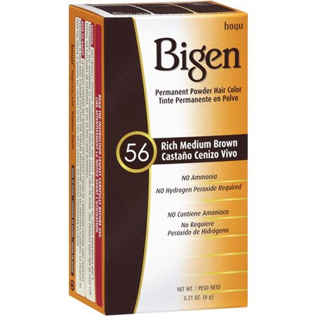 Bigen Permanent Powder Hair Color, Rich Medium Brown 56, 0.21 oz