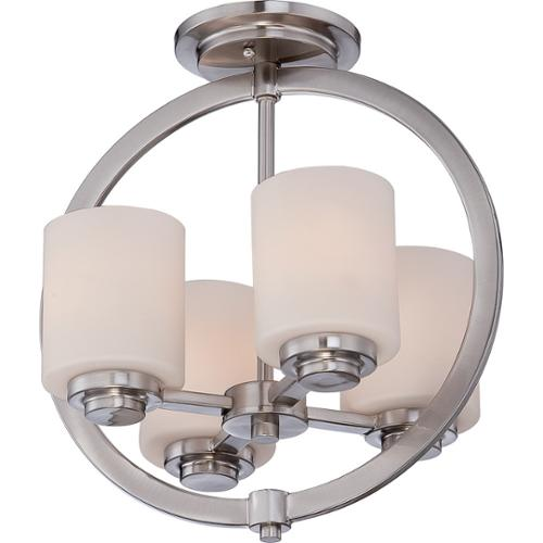 Quoizel Celestial 4-light Brushed Nickel Medium Semi Flush Mount by Overstock