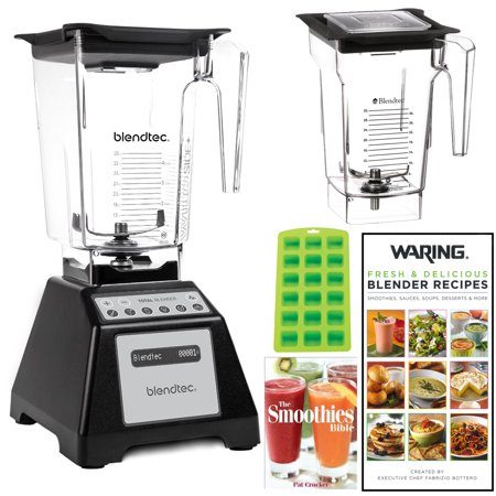 Blendtec Total Blender with WildSide Jar + FourSide Jar + 2 Blender Recipe Books (Refurbished)