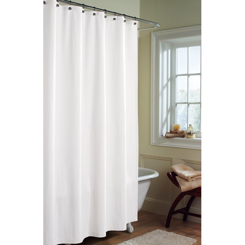 Canopy Microfiber Fabric Shower Curtain Liner, Arctic White