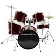 On-Stage DK7500-WR 5-Piece Drum Set , Wine Red