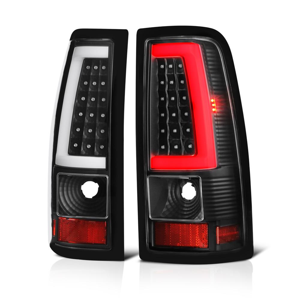 VIPMOTOZ Neon Tube LED Tail Light Lamp Assembly For 1999-2002 Chevy Silverado & 1999-2006 GMC Sierra 1500 2500 3500