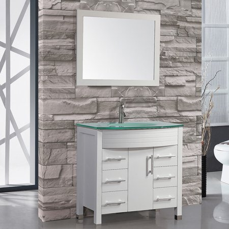 Mtd Vanities Figi 36 Single Sink Bathroom Vanity Set With Mirror