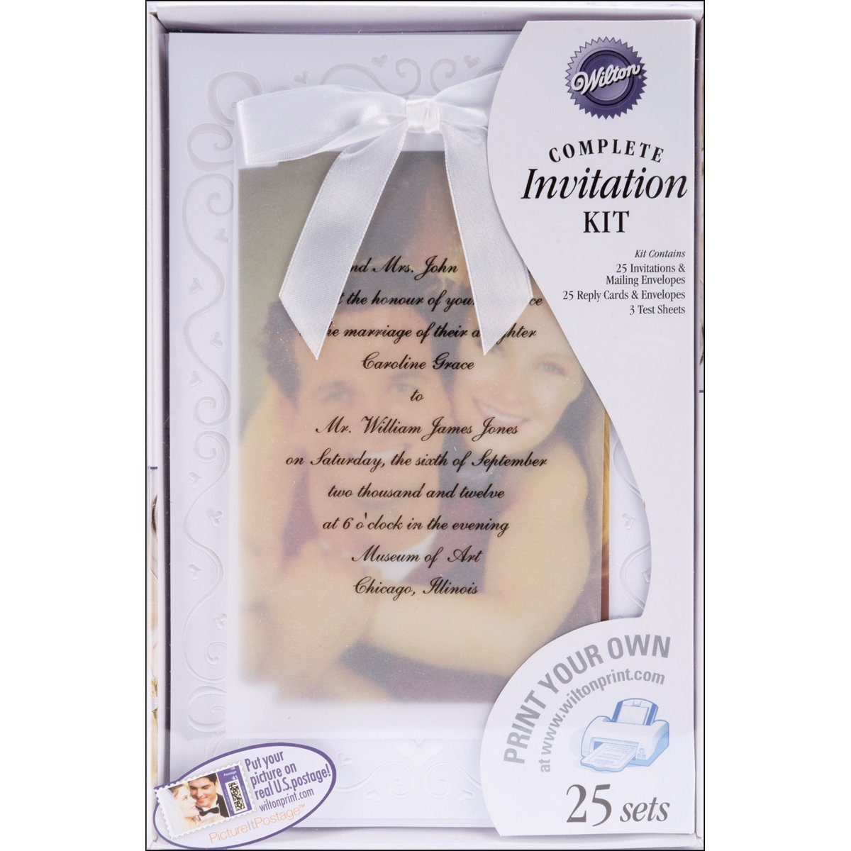 The Two of Us Wedding Invitation Kit By Wilton Ship from US ...