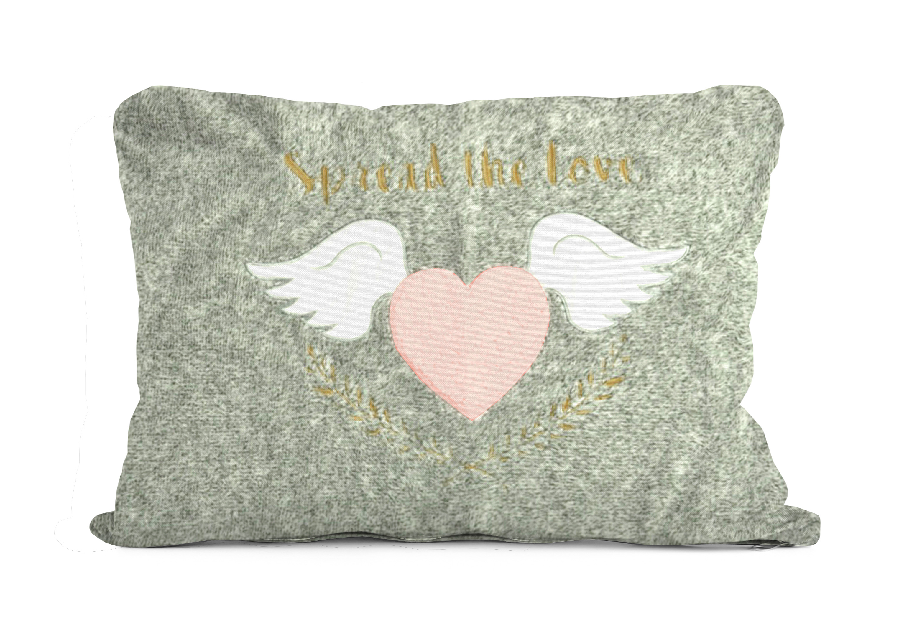 Better Homes & Gardens Kids Royal Plush Jumbo Spread Love Heart Pillow by Idea Nuova
