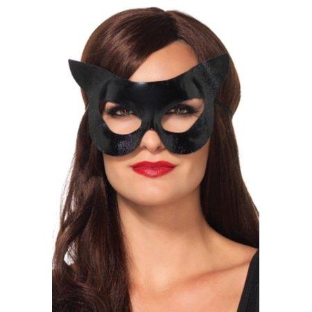 Leg Avenue Women's Vinyl Cat Mask Costume Accessory, Black, One Size