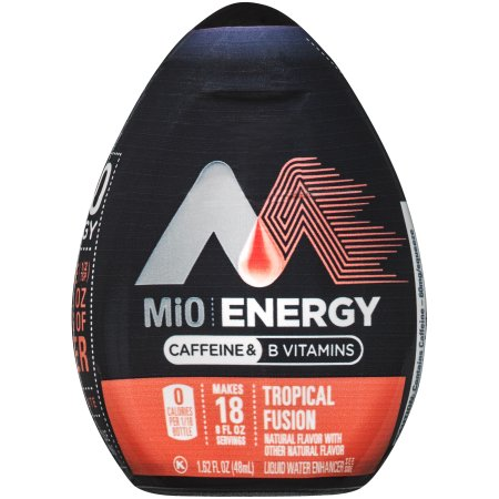 (2 Pack) MiO Energy Tropical Fusion Liquid Water Enhancer, 12 - 1.62 fl oz Bottles
