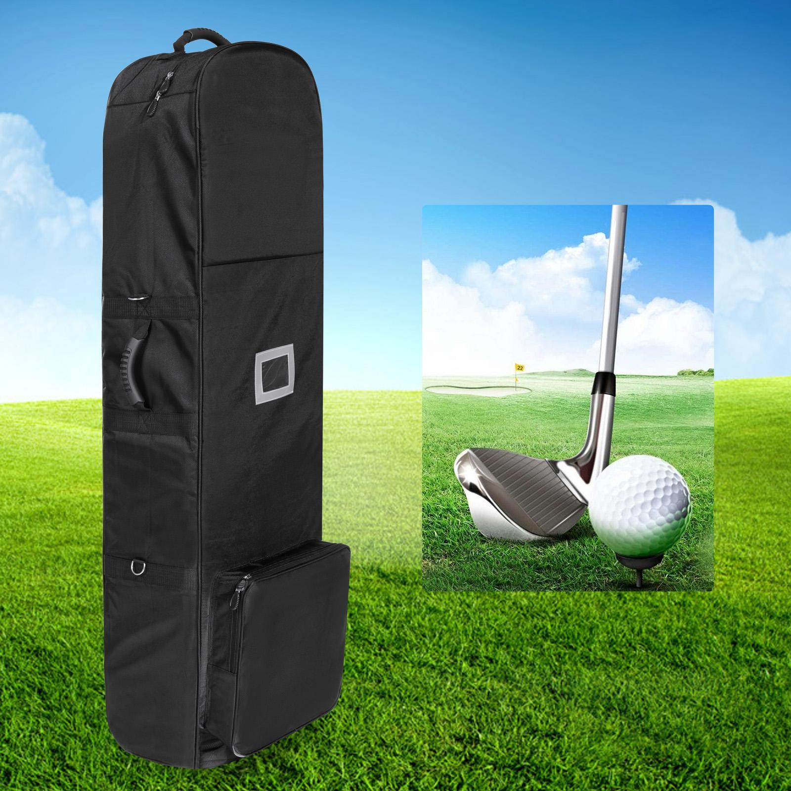 Golf Bag Travel Golf Cart Bag Cover With Wheel Outdoor Foldable Club DEAML by